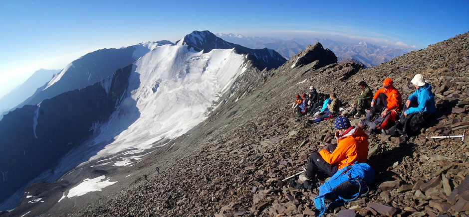 Group of Trekkers at stok kangri, Leh Ladakh