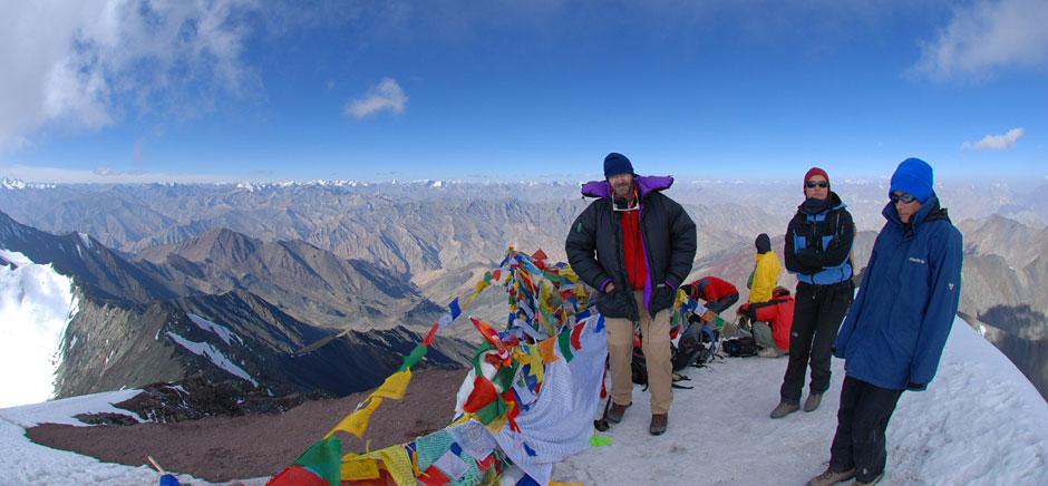 Trekkers at stok kangri, Leh Ladakh