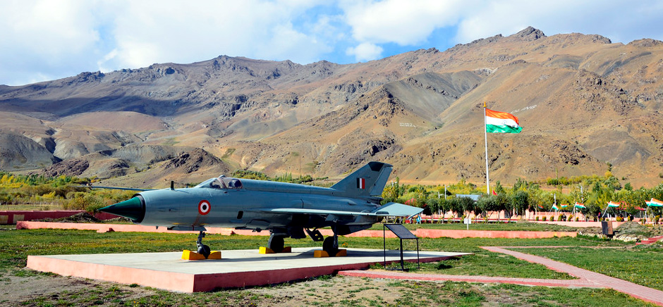 Fighter Jet at Kargil War Memorial, Leh Ladakh
