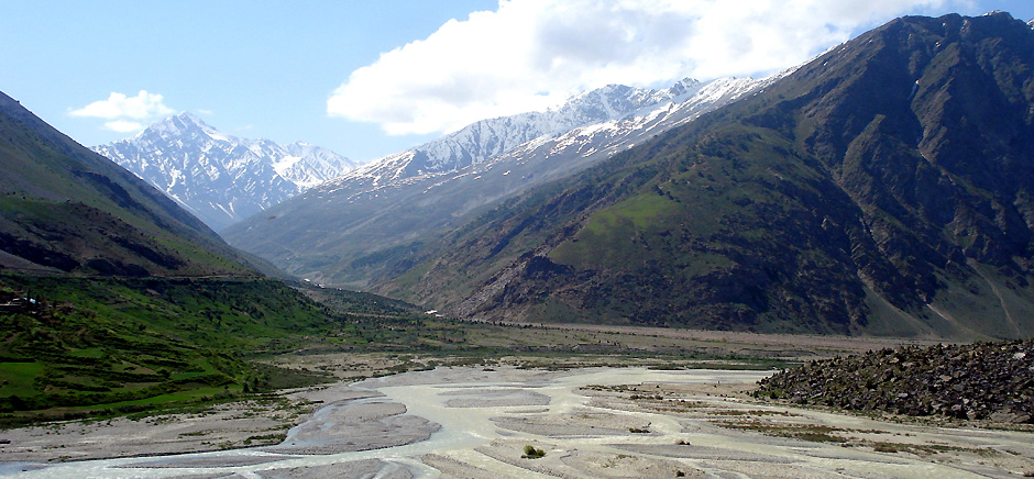 River Streams in Jispa, Himachal Pradesh