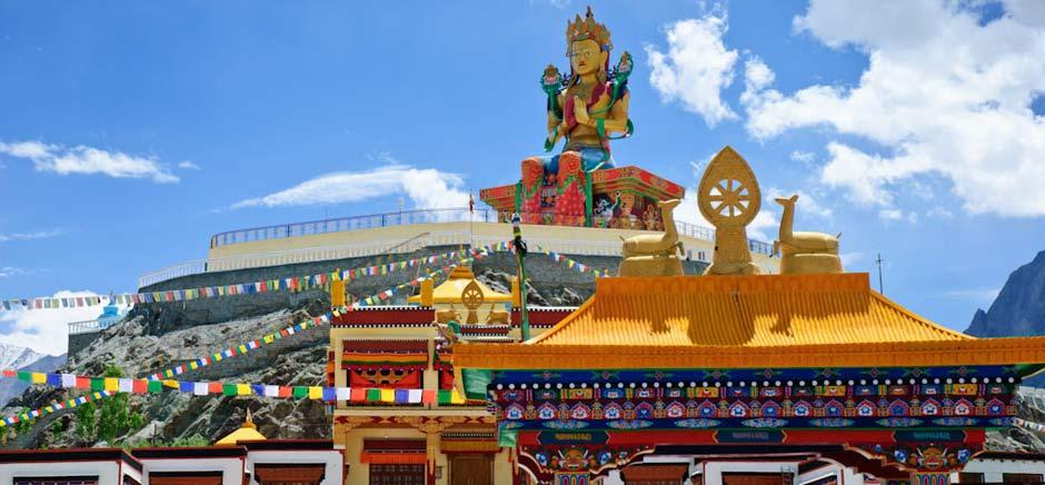 Maitreya Buddha Statue In Diskit, Leh Ladakh