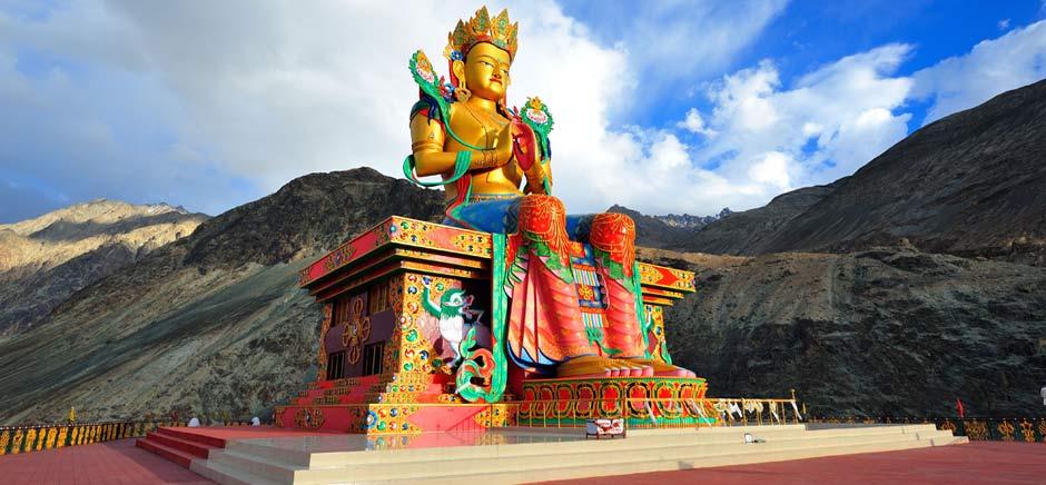 Statue of maitreya buddha in Diskit, Leh Ladakh