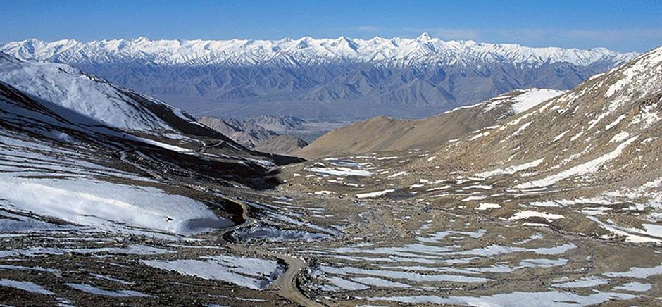 Snow Covered Mountains Of Panamik, Leh Ladakh