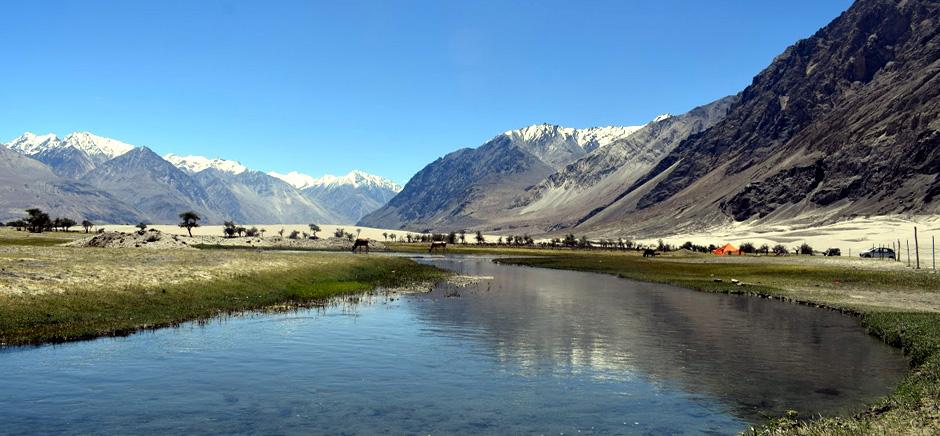 Waterbody in Panamik, Leh Ladakh