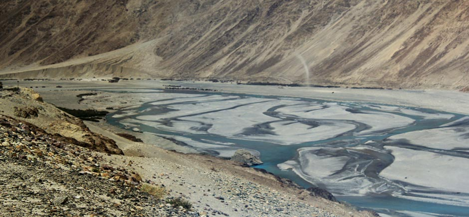 River Streams in Panamik, Leh Ladakh