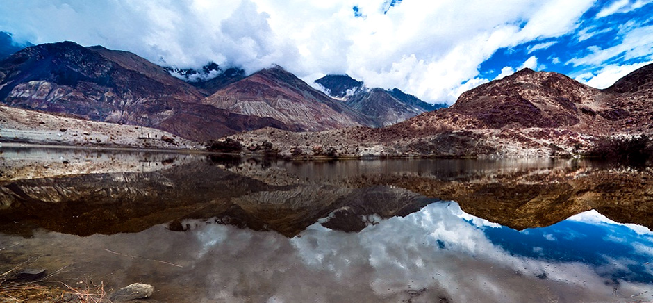 Yarab Tso Lake in Nubra Valley, Leh Ladakh