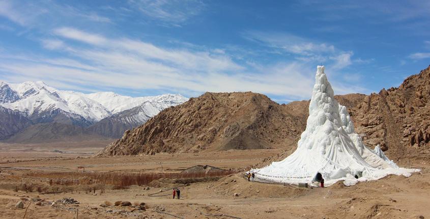 Ice Stupa in Leh Ladakh